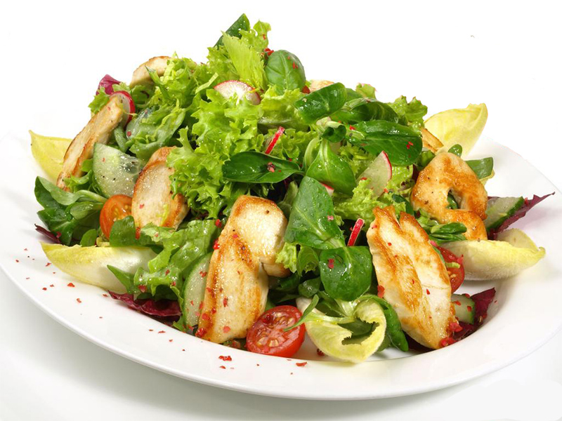 radicchio med kalkun, nem og sund salat