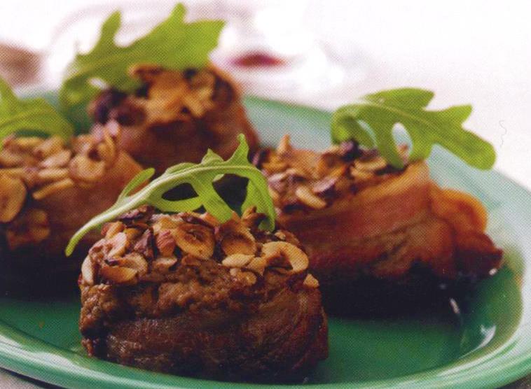 bagte champignon med julepostej